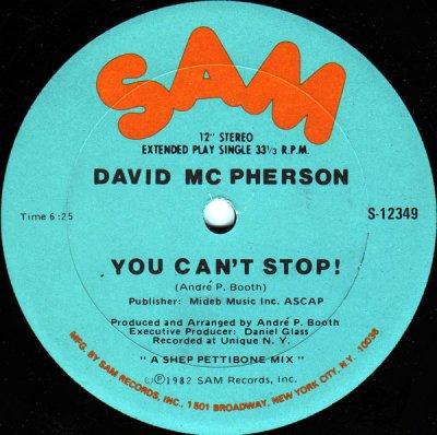 David Mcpherson - You Can't Stop 1982