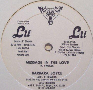 Barbara Joyce - Message In The Love 1984