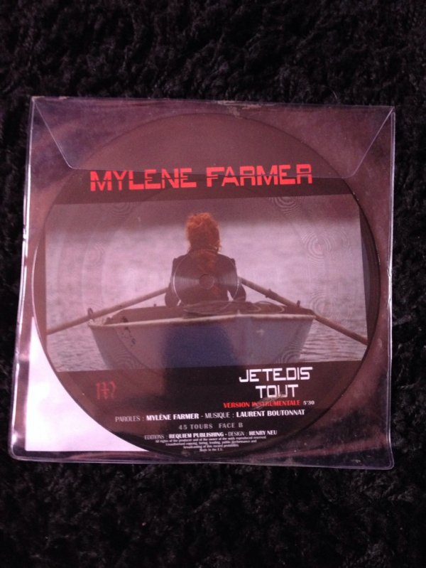 "Collector - 45 Tours Picture Disc "" Je te dis tout """