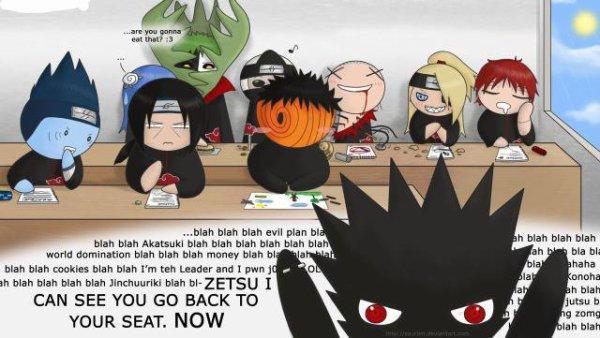 l'akatsuki à l'école