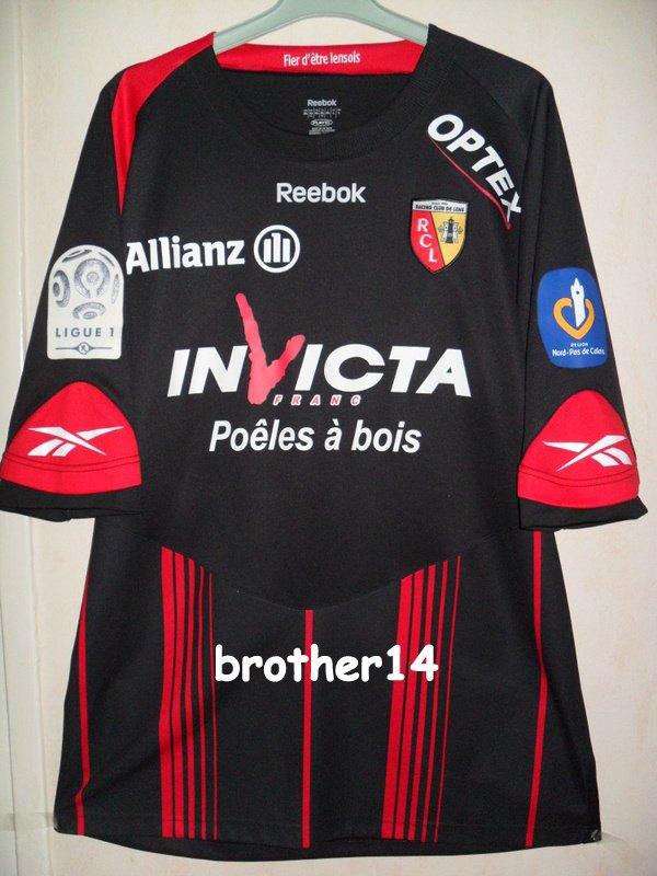 maillot rc LENS porté par MILOVANOVIC saison 2009-2010