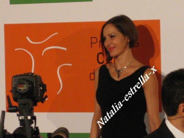 Natalia en los premios Ceres 2012 de Merida