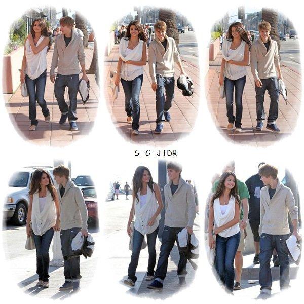 6/01: Selena et son inseparable J.B dans les rues de Santa Monica