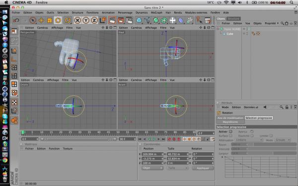 PROJET EN COURS : MODELISATION 3D D'UN PERSONNAGE EN PARTANT D'UNE SPHERE