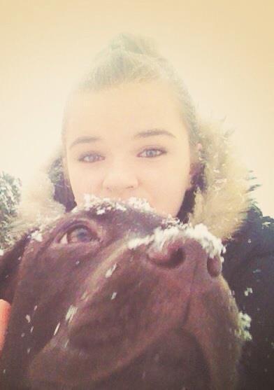 Dans la neige avec mon bébé d'amour ♥