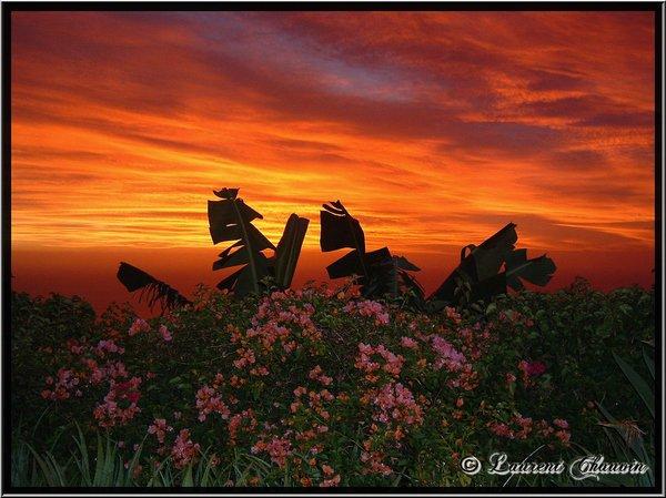 coucher de soleil sur mon iles