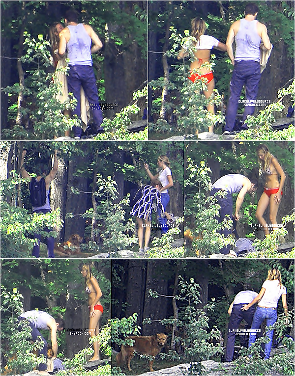 . 07 juillet 2012 - Blake et Ryan étaient avec des amis à un lac non loin de  New York .