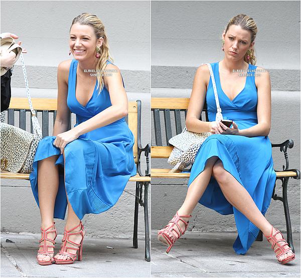 . 17 juillet 2012 - Blake Lively sur le set de Gossip Girl avec Chace Crawford et Barry Watson (7 à la maison) .