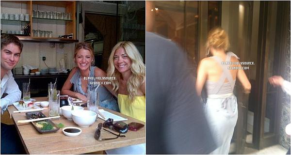 . 18 juillet 2012 - Blake toujours sur le set de Gossip Girl où ils ont fêtaient l'anniversaire de Chace Crawford .