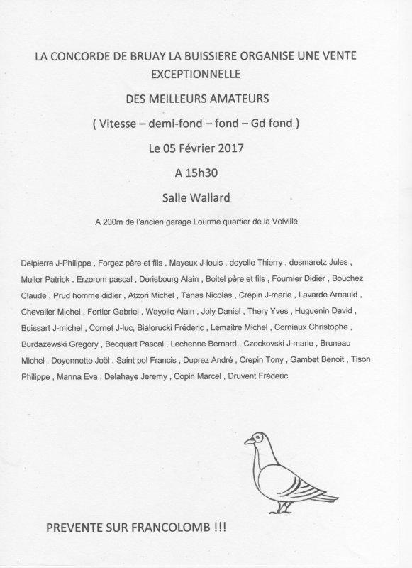 VENTE DE MA SOCIETE LA CONCORDE DE BRUAY LA BUISSIERE