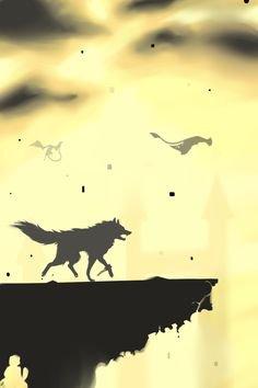 Rex le loup dans le crépuscule