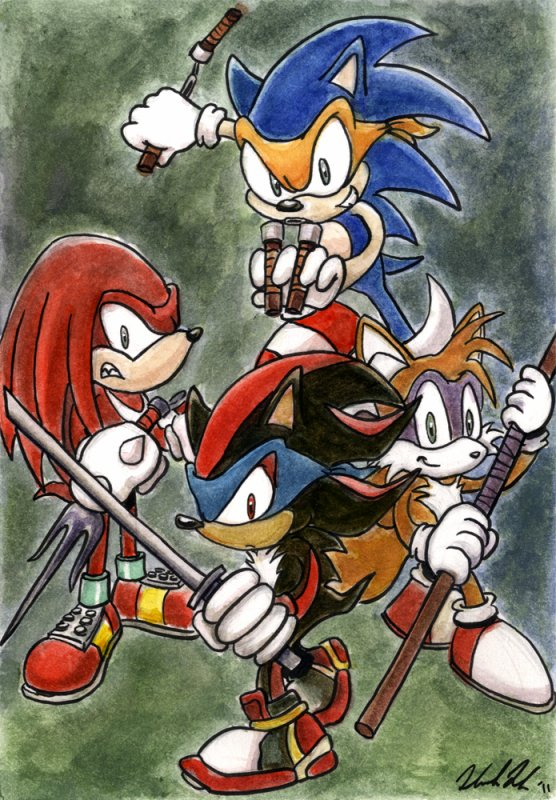 Sonic façon tortues ninja