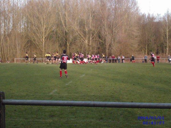 Mon équipe de Rugby ( On est les rouges ) je kiff ! ( J' était jeune là... )
