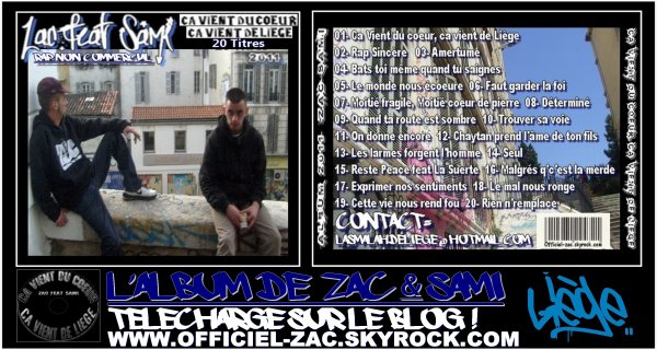 NOUVEAU ALBUM 2011 ZAC & SAMI ( LA SMALAH DE LIEGE)