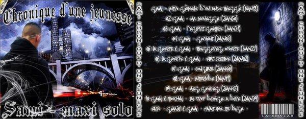 BIENTOT DISPONIBLE !! SAMI - Chronique d'une Jeunesse 2011 Maxi Solo - La Smalah - Pochette de l'album (Bandito)