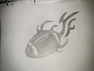 Ballon de football am ricain tribal blog de xx mes dessins xx du 10 - Dessin football americain ...