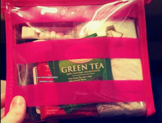 05/12/2011| Voici le petit sac de Greyson, où il y a tout ce qu'il utilise : Tic tac..
