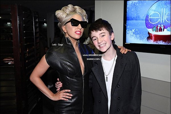 09/12/2011| Greyson Chance on Ellen, avec Lady Gaga