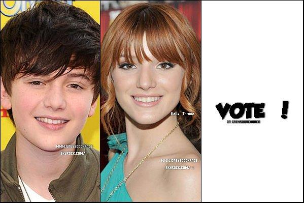 _ 22.12.2011- Greyson Chance VS Bella Thorne ! Vote ICI pour ton préférer ! _