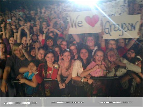 01/02/2012: Greyson Chance photo d'un de ses concerts à Oklahoma.