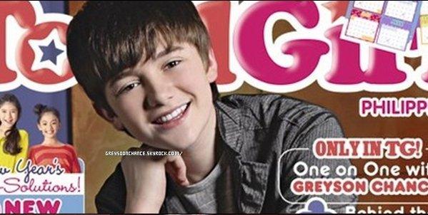 ??/??/2012 - Greyson Chance sur le magazine Total Girl le beau sourire qu'il a ..