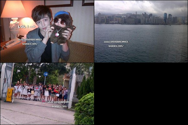- 30/04/2012 : Quelques photos venant du Twitter de Greyson Chance qui était encore à Hong Kong -