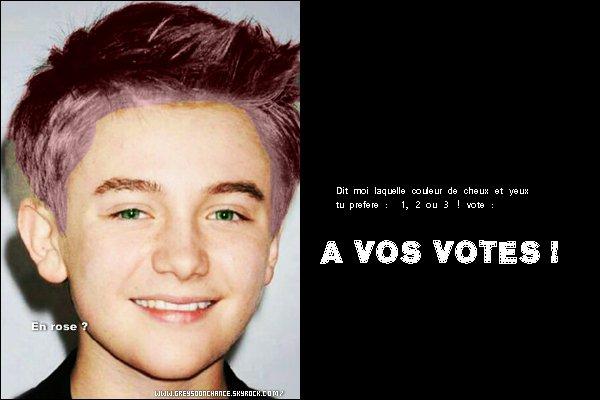 - 15/05/2012 : Quelle couleur de cheveux préfères-tu ? Choisi en votant 1 - 2 ou 3 en commentaires ! -