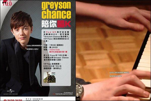 - 21/06/2012 : Greyson ira en Chine le 5 juillet et une nouvelle photo Twitter apparait ici en exclusifs ! -