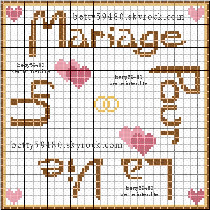 Image n 004 - Point de croix mariage grilles gratuites ...