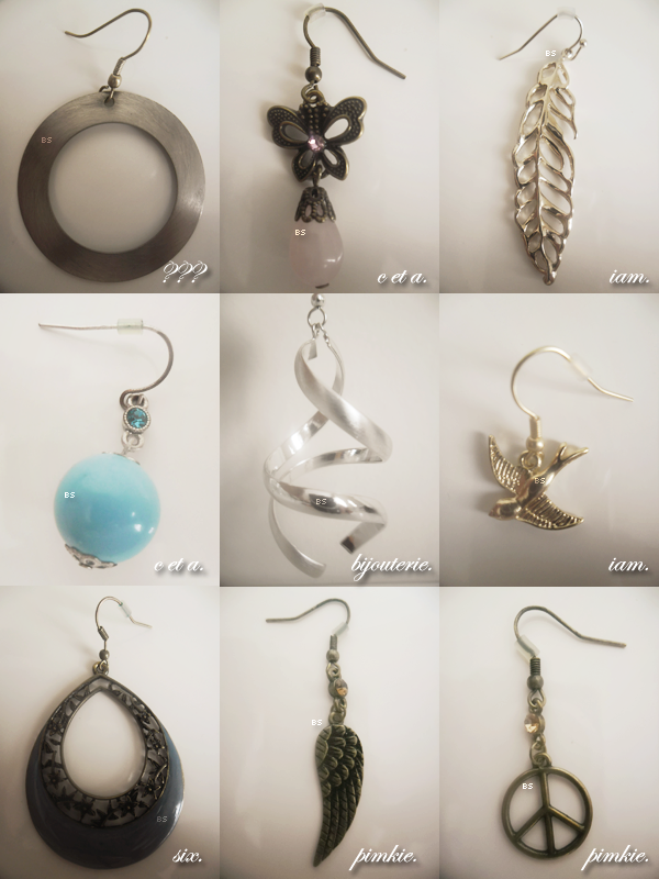 Mode ♦ Ma collection de boucles d'oreille.