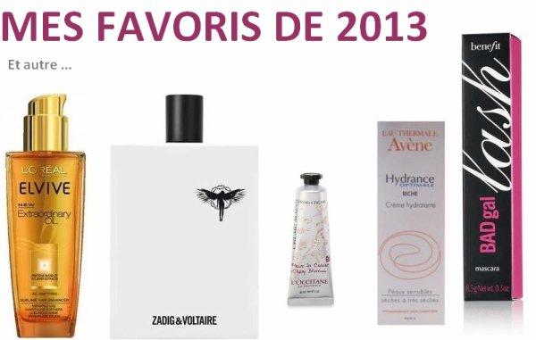 Beauté : Mes favoris de 2013