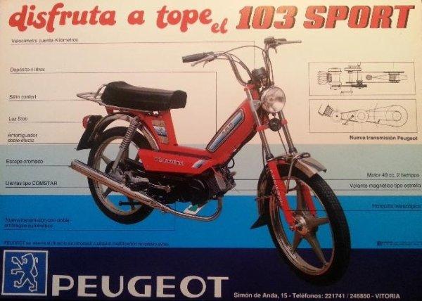 Peugeot 103 Espagnol.