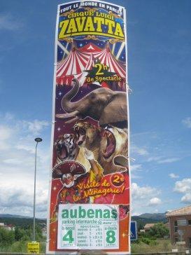 Affiche du cirque luigi zavatta