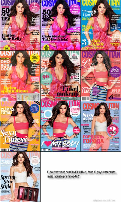 """Selena Gomez dans """"Cosmopolitan"""""""