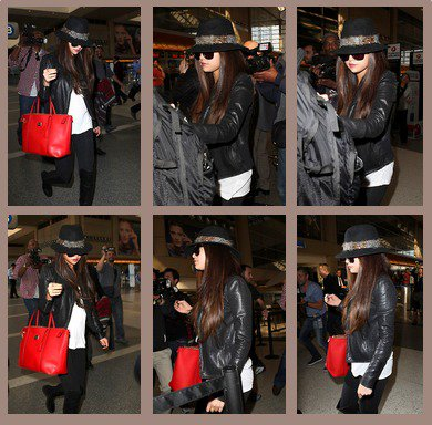 Selena fait des courses avant d'aller à Los Angeles pour arriver à l'aéroport de Los Angeles. 15/02/2013