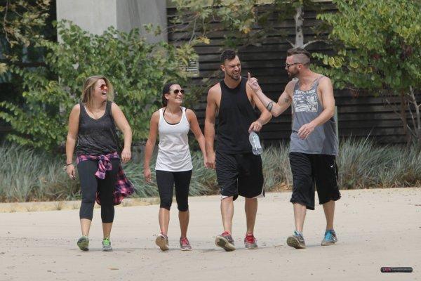 Lea et des amis lors d'une randonnée, le 2 août 2014