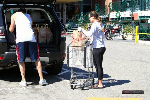 Lea and Matthew leaving Whole Foods