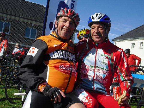 LE 30 /09 /2012/ BREVET de  BOUVIGNY  ( marqueffe)   Didier et avec le vice Président de Beuvry ...