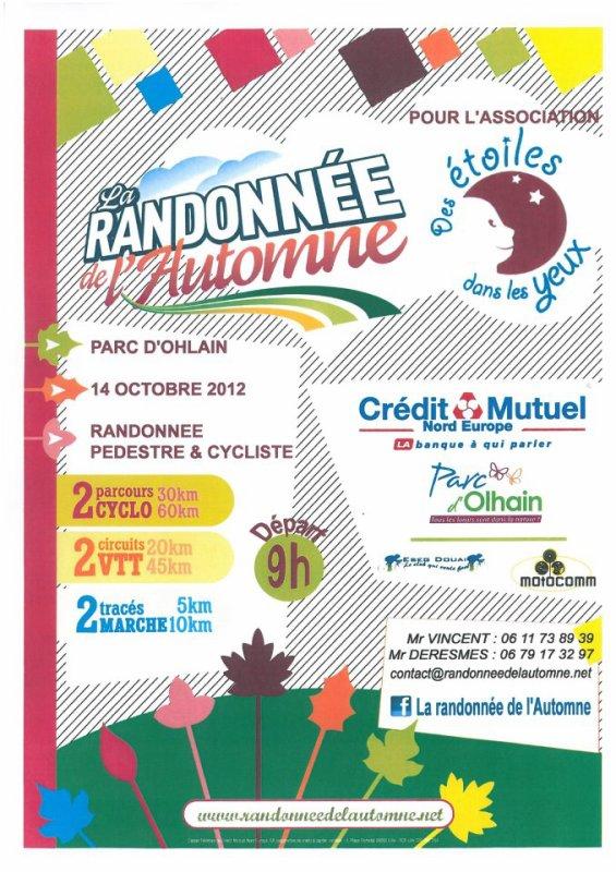 RENDEZ VOUS LE DIMANCHE 14 10 2012 A 8H45 A OLHAIN POUR DÉPART 9H