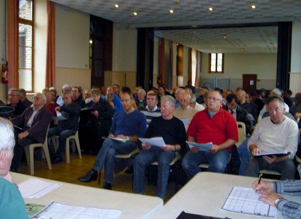 réunion calendrier cyclo du bethunois le 20 10 2012
