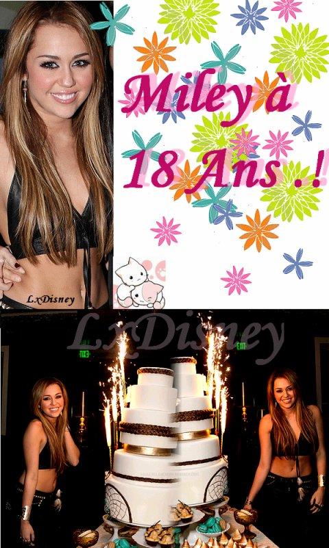 23 Novembre 2010 :: Miley Féte ces 18 Ans .!