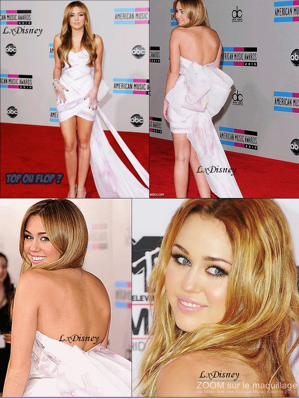 Miley au American Music Awards 2010 Que pense-tu de sa tenue .?