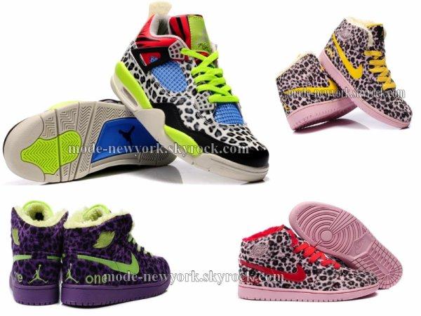Chaussure jordan 1 retro léopard complété d'une fourrure modèle pour femme que du swag sur nos pieds donnez votre avis !
