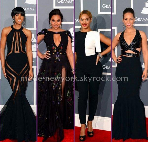 kelly / Ashanti / Beyonce / Alicia Keys (à votre avis laquelle est bien habiller aux GRAMMY ?)