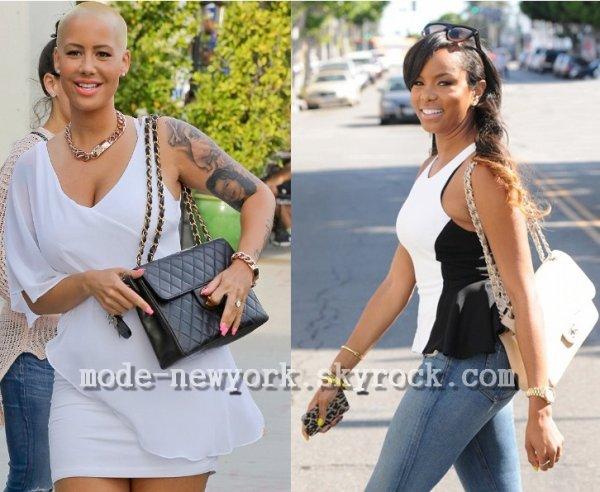 l'actualité sur la mode le sac chanel fait beaucoup d'apparition sur nos célébrité modèle noir et beige tous simplement magnifique.