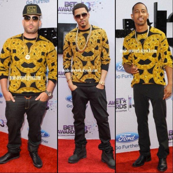 DJ Drama, J. Cole et Brandon T. Jackson (lequel le porte mieux ?)