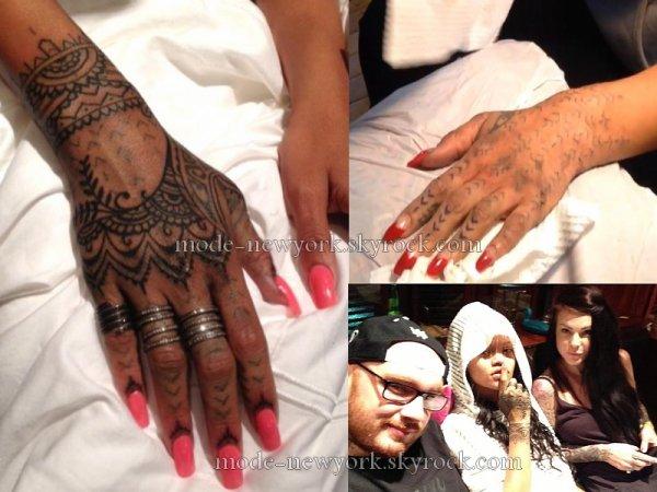 Le nouveau tatouage de Rihanna