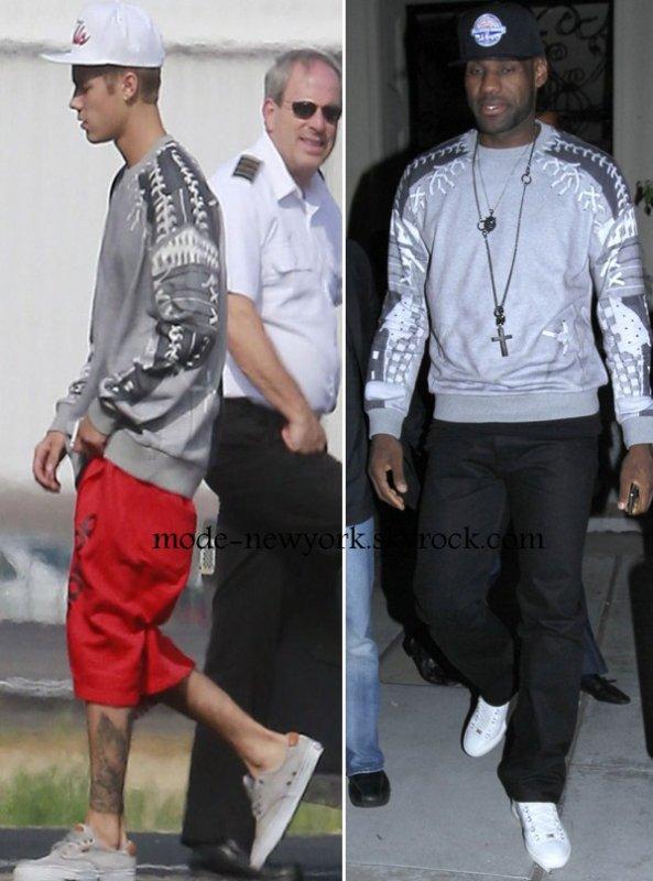 Justin Bieber  vs  Lebron James en SWEAT GIVENCHY qui le porte le mieux ?