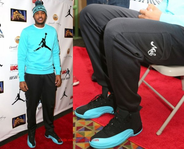 Carmelo Anthony porte des Air Jordan 12