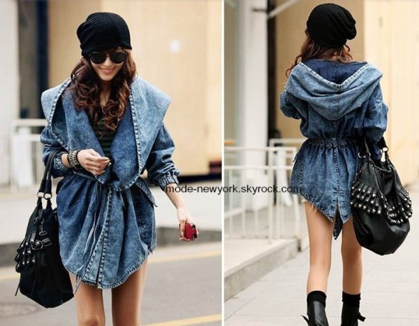veste en jean en vente disponible uniquement sur commande prix : 55 ¤ / taille : unique, téléphone : 06.08.46.90.21 / e-mail : lamode_usa@yahoo.fr /